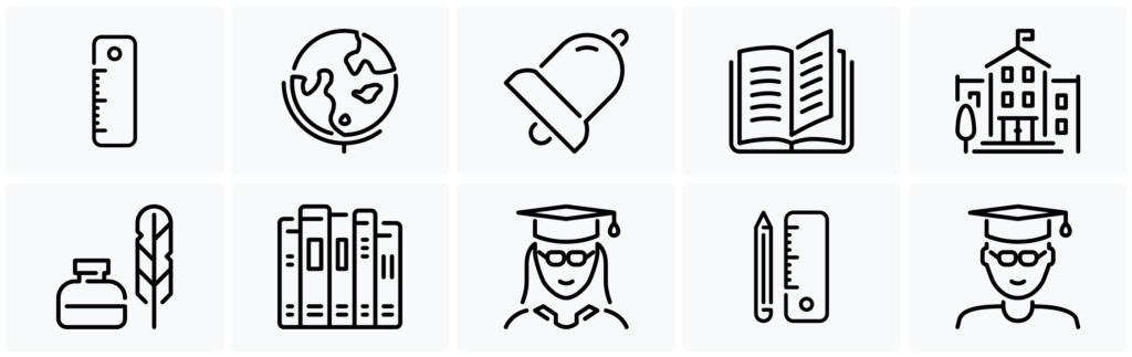 Best School Icon Set